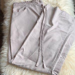 Khaki scrub pants